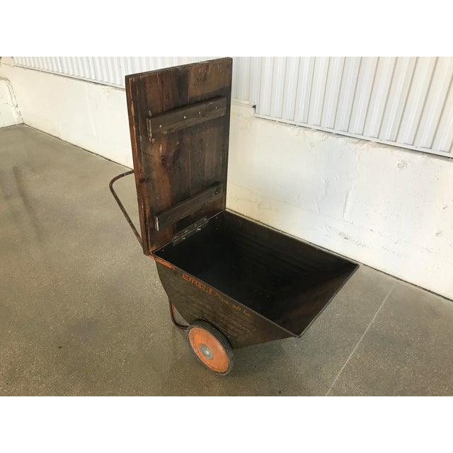 Vintage Industrial Cart Table or Beverage Cart - Image 3 of 10