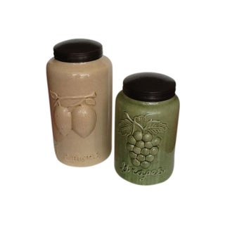 Ceramic Canisters From Foreside Maine