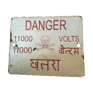 Indian High Voltage Sign