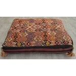 Image of Turkish Hand Woven Floor Cushion Cover