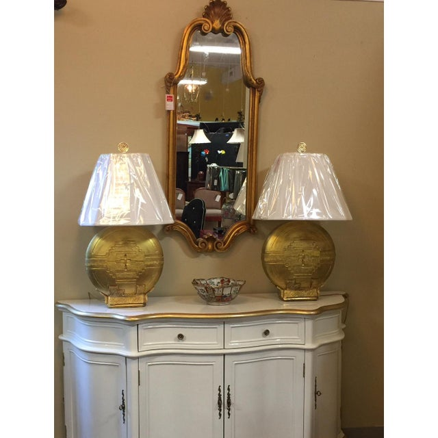 Vintage Cream and Gold Lacquered Buffet - Image 5 of 8