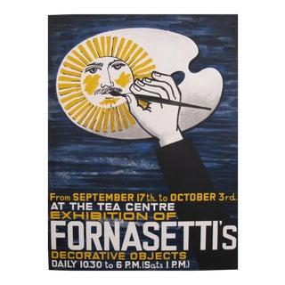 1959 Vintage Piero Fornasetti Exhibition Poster (artist's palette)
