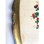 Image of Large Vintage Floral Italian Gilt Tray