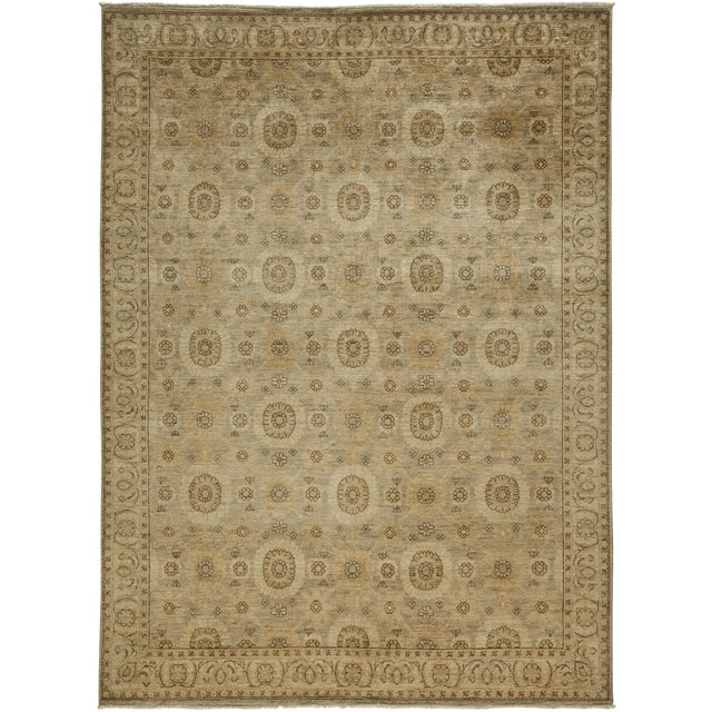 """New Oushak Hand Knotted Area Rug - 6'2"""" x 8'6"""" - Image 1 of 3"""