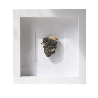 Framed Natural Hematite Smoky Quartz Stone