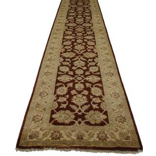 Oushak Style Wool Runner - 2′6″ × 15′7″