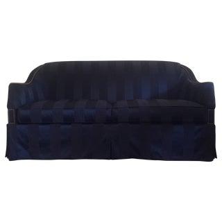 "Hickory Chair ""Eton"" Navy Blue Sofas - A Pair"