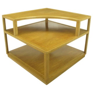 Edward Wormley Bleached Mahogany Corner Table for Dunbar