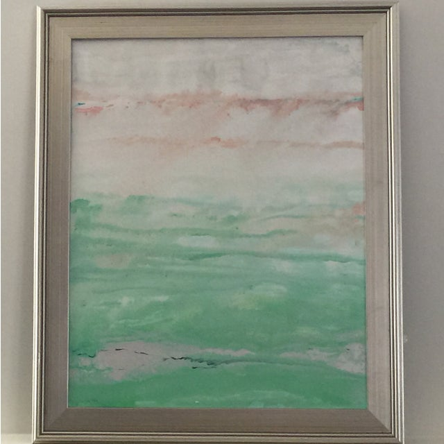 "Image of ""Morning Sea"" Original Painting Acrylic on Canvas"