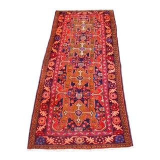Persian Heriz Floral Rug - 4″ × 10″