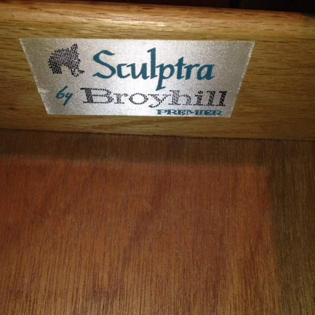 Image of Broyhill Mid-Century Sculptra Walnut Buffet Table