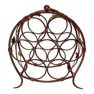 Painted Wrought Iron Wine Rack