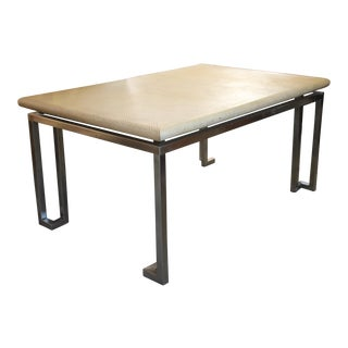 Grass Cloth Dining Table