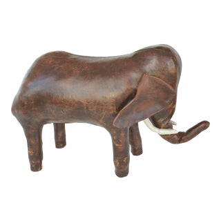 Dimitri Omasar for Abercrombie Leather Elephant Footstool