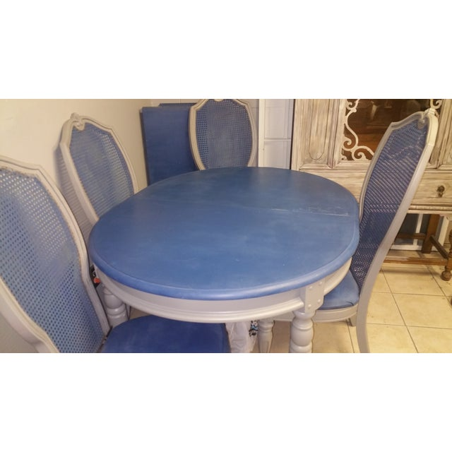 Shabby Chic Blue & Gray Dining Set - Image 5 of 5