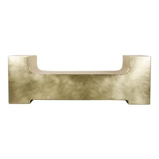 U Shape Bench - Brass