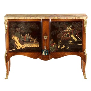 Antique Louis XV Style Chinoiserie Cabinet