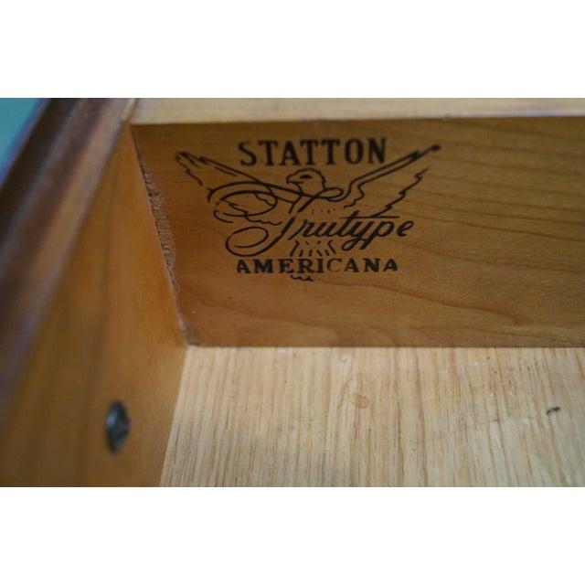 Statton Solid Cherry Chippendale Secretary Desk - Image 7 of 10