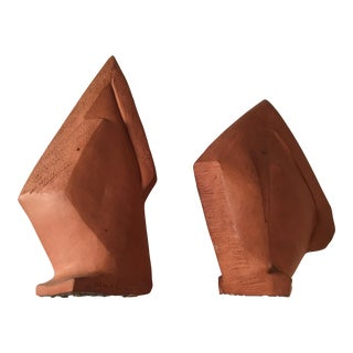 Red Ware Maquettes - A Pair