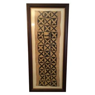 Framed African Kuba Cloth Textile