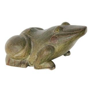 Large Carved Frog Box