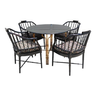 Century Chippendale Faux Bamboo Dining Set