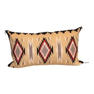 Geometric Eye Dazzler Navajo Indian Weaving Bolster Pillow
