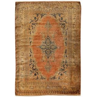 Antique 19th Century Persian Silk Tabriz Rug