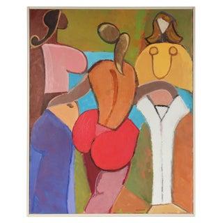 Mid-20th Century Gerald Wasserman Three Women Painting