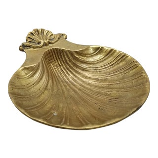 Vintage Brass Clam Shell Soap Dish