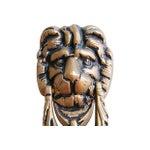 Image of Mid-Century 1950s English Brass Lion Door Knocker