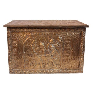 Early 20th Century Brass & Wood Box