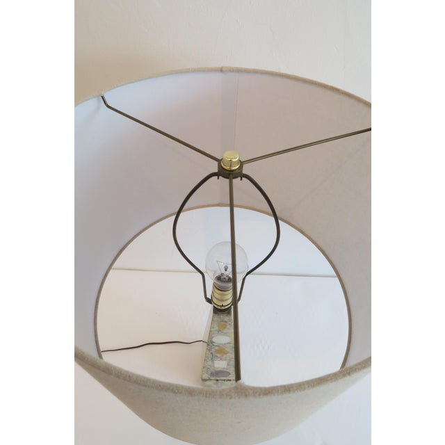 Vintage Stone Inlay Table Lamp - Image 6 of 6
