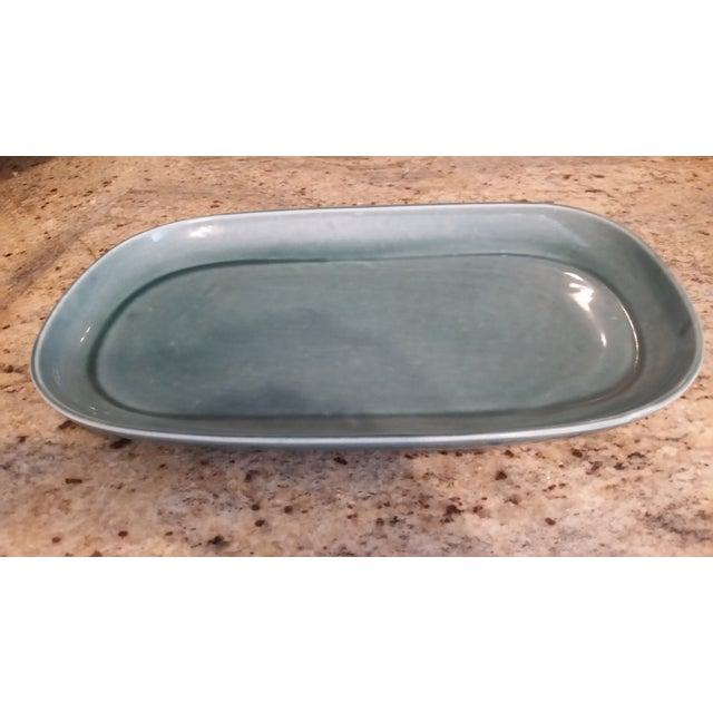 Russel Wright Mid-Century Green Platter - Image 2 of 4