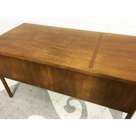 Mid-Century Modern Walnut Four Drawer Desk - Image 6 of 6
