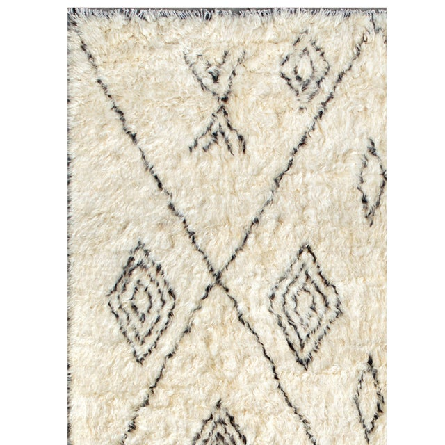 "Moroccan Wool Area Rug - 7'10"" X 10' - Image 2 of 2"