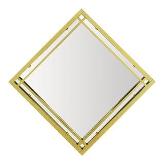 Brass Double Framed Mirror in the Style of Pierre Cardin