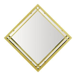 Brass Double Framed Mirror in the Style of Pierre Cardin