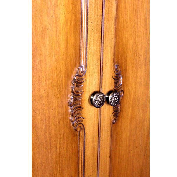 French Provincial Country Walnut Armoire - Image 8 of 8