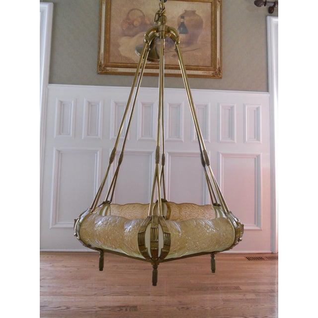 Mueller Gilded Bronze Mounted Chandelier - Image 4 of 6