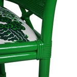 Image of Ficks Reed Green Rattan Armchairs - Set of 4