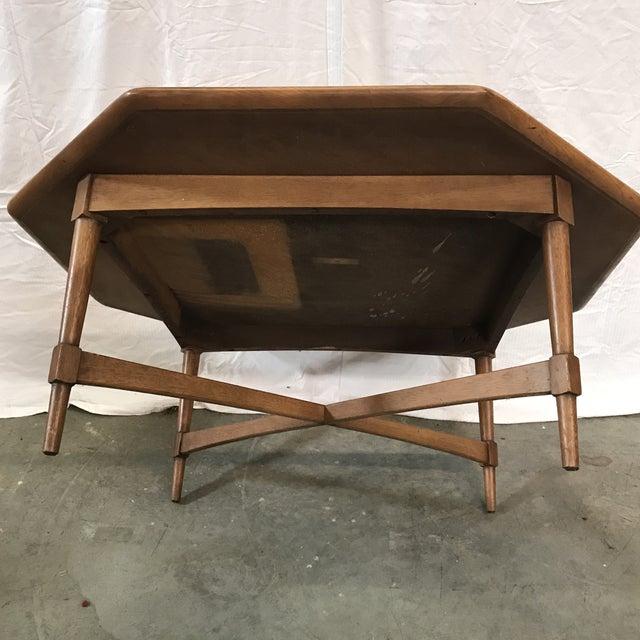mid century octagon coffee table chairish
