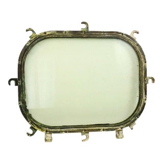 Vintage Brass Ship Stateroom Porthole Window