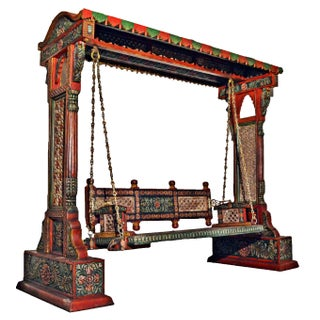 Jaisalmer Jharokha Carved Royal Swing Set