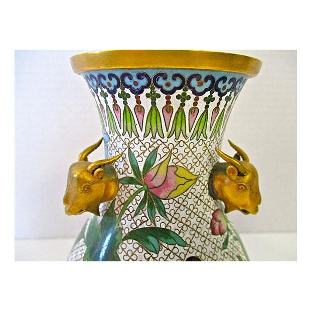 Chinese Colorful Cloisonne Vases - A Pair - Image 6 of 7