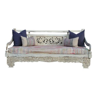 Aged White Opium Teak Daybed