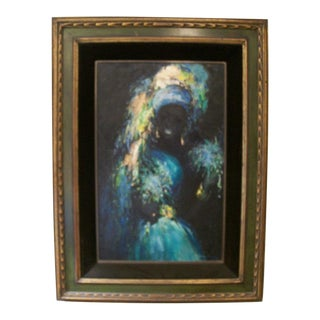 1960's Ophelia Voodoo Priestess Oil on Board
