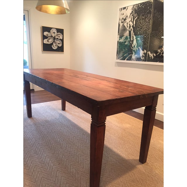 Reclaimed Wood Rectangular Rustic Dining Table - Image 2 of 5