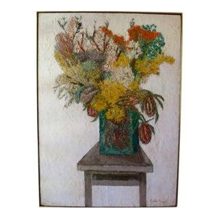 Mid-Century Floral Still Life Painting