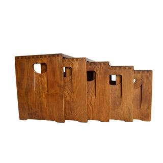 Ercol Mid-Century Danish Nesting Tables - Set of 5
